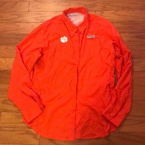 🌹 Columbia Omni-Shade Clemson Shirt
